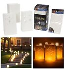 12 X PAPER TEALIGHT CANDLE LANTERN BAGS GARDEN WEDDING XMAS NIGHT PARTY FAVOURS