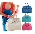Celebrity Lady PU Leather Tote Handbag Lock Shoulder Designer Satchel bag JB