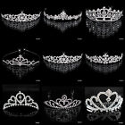 Bridal Tiaras Headband Head Clip Pageant Crowns Comb Wedding Party Girls Jewelry