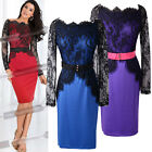 XMAS CHEAP~Sexy Vintage Celeb Cocktail Lace Bodycon Slim Pencil Evening Dresses