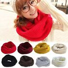 Winter Fashion Soft Womens Mens Wool Solid Knitted Wrap Neckchief Round Scarf J