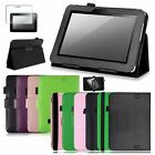 For Kindle Fire HD 7 2012 Stand 7 inch Leather Case Cover + Screen Protector