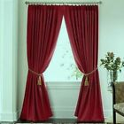 JCP Supreme SPICY RED Pinch Pleated Drapes  CURTAIN PAIR DAMAGED