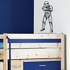 LARGE STARWARS STORM TROOPER WALL STICKER CHOICE 14 COLOURS 3 SIZES UK POSTED