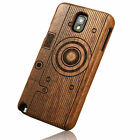 Real Natural Bamboo Wood Wooden Hard Skin Cover Case For Samsung Galaxy Note 3 4