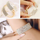 Fashion Women Rhinestone Crystal Wristband Bangle Bracelet Hand Chain Jewelry US