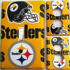 Pittsburgh Steelers Yellow custom Light Switch wall plate covers man cave room
