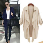 PLUS SIZE Womens Loose Batwing Blazer Cardigan Chiffon Suit Lapel Jacket Tops