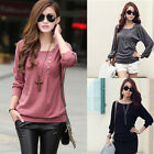 1PC Women Casual Sexy Cotton Batwing Sleeve Loose T-Shirt Tops Blouse Stylish