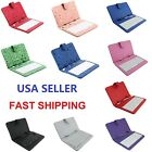 Universal 7 8 9 9.7 10 10.1 Inch Leather Tablet Keyboard Case Cover w / Micro USB