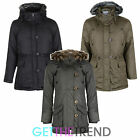 Girls Minx Parka Waterproof Hooded School Jacket Coat Kids Age 7 8 9 10 11 12 13