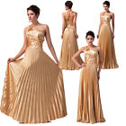 TOP LUXURY Satin Long Maxi Dresses Formal Party Evening Gown Ball Wedding dress