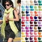 Plain Solid Cashmere Blend Long Pashmina Scarf Unisex Shawl 40 Colors Wrap