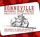 Bonneville Vintage Motorcycle Speed Trials T Shirt Land Speed Rat Rod Cycle Race