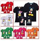 New Mickey Minnie Mouse printed Tops Kids/ Mummy/Daddy family T-shirts all sizes