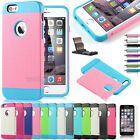 "For Apple iPhone 6 4.7"" 6 Plus 5.5"" Impact Rugged Rubber Matte Hard Case Cover"