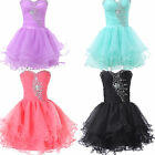 SEXY Beaded Corset Short Prom GRADUATION Evening Party Quinceanera Gowns Dress