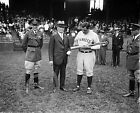 1929 Babe Ruth with Baseball Bat Yankees Historical Photo