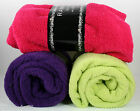 Rampage Throw Blanket with Sparkle Flecks 50 x 60 Lime Green, Pink, Purple
