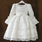 Grace Flower Girls Baby Wedding Birthday Party Long Sleeve Dress 088