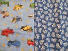 NOVELTY 100% cotton fabric cars trucks tractors vintage toys earth moving trucks