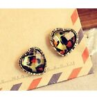 Ladies Diamante Girls Womens Vintage Print NEW Animal Leopard Stud Earrings