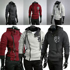 New fashion Korean men's slim fit hoodie sweater cardigan jacket coat/sweatshirt