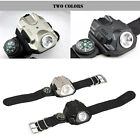 600LM CREE Q5 LED Rechargeable Flashlight Torch watches Wrist Light Compass+USB
