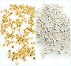 500pcs Charm Silver/Golden Copper Rondelle Crimp End Finding Diy Spacer Beads