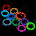 3M LED Flexible EL Wire Rope Tube Lamp Light With Controller For 10 Colors Xmas