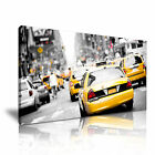 Yellow Taxi in New York Manhattan Modern Home Office Canvas Art Box ~ from 13.99