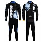 Cycling Jersey Bike Bicycle Clothing Long Sleeve Jersey & Pant Fleece Thermal