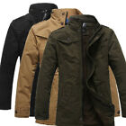 Thick Mens Fashion Military Coat Winter Jacket Army Work Overcoat Outerwear Tops