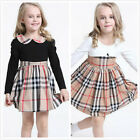 Girl Kid Dress Striped Spring Top Skirt 2-7Y Clothing Clothes Long Sleeve Autumn