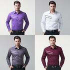 2015 New Fashion Mens Luxury Long Sleeve Casual Slim Fit Stylish Dress Shirts