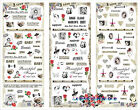 New 3-in-1 Beautiful Girl Nail Art Decal Superman Water Transfer Stickers Decors