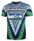 Seattle Seahawks V-Dye Liquid Blue T Shirt   SHIPS SAME DAY