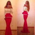 Long Sexy Women Bridesmaid Formal Gown Ball Party Cocktail Evening Prom Dress