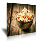 INDIAN FOOD 2 Asian Food & Drink 1S Canvas Framed Printed Wall Art ~ More Size