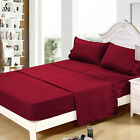 4Pc Polyester Bed Sheet Set Embroidered 8Colors Queen/ King Size