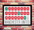 MANCHESTER UNITED SQUAD TEAM PRINT SHIRT PHOTO POSTER NOT SIGNED FALCAO DI MARIA