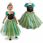 Girls Frozen Princess Anna Halloween 3-8Y Cosplay Costume Kids Party Fancy Dress