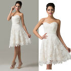 stock Bride Bridesmaid Wedding Gown Prom Ball Evening Dress PLUS 6-8-10-12-14-16