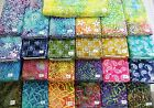 "FLORALS SWIRLS PAISLEYS batik 100% cotton fabric flavor of India 1 yd x 44""w"