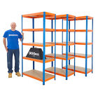 Stockroom Shelving 3 Or 5 Bay Deals Garage Storeroom Racking 300kg UDL BiGDUG