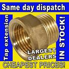 "1/2"" OR 3/4"" BSP THREAD 15MM / 22MM BRASS MALE TO FEMALE TAP EXTENSION EXTENDER"