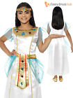 Age 4- 12 Girls Deluxe Queen Cleopatra Egyptian Goddess Kids Fancy Dress Costume