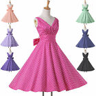 POP 1950s Vintage Polka Dots Party OFFICE Pinup Rockabilly Swing Evening Dresses