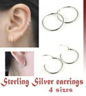 925 Sterling Silver Small Endless Hoop Earrings for cartilage, Nose, lips PT-700
