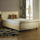 Clearance Sale - 3ft Hf4you Buckingham Ice Grey Fabric Bedstead - Next Day Deliv